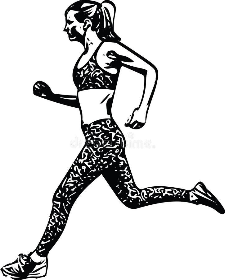 Download Tekening Van Het Runnen Van Vrouwensilhouet Vector Illustratie - Illustratie bestaande uit tekening, gezond: 107706743