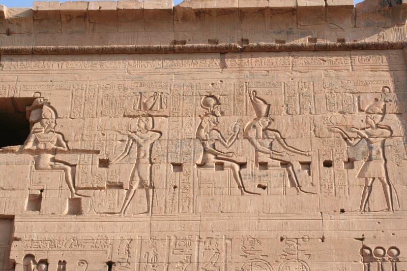 tekening van philea tempel dichtbij Aswan stock foto