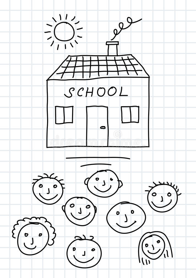It is an image of Critical School Drawing Images