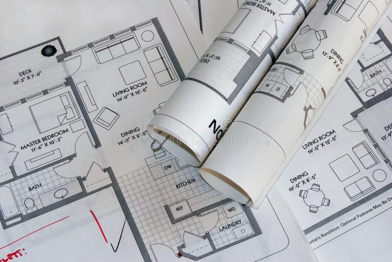 Download Tekeningen 2 van het plan stock afbeelding. Afbeelding bestaande uit document - 275425