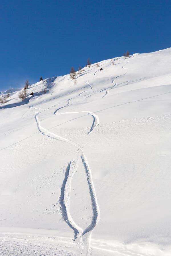 Tekeningen op de sneeuw royalty-vrije stock foto's