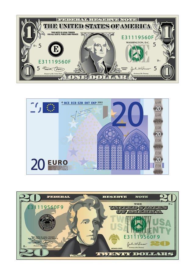 Tekeningen van geld vector illustratie