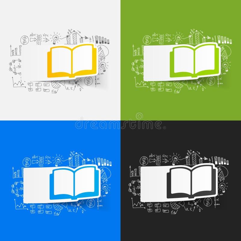Tekenings bedrijfsformules: boek stock illustratie