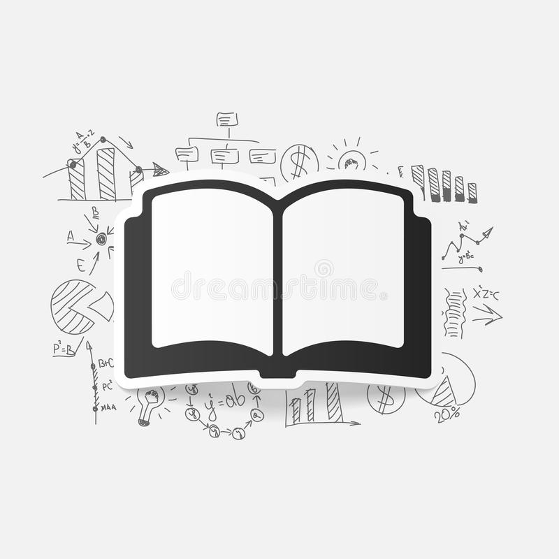 Tekenings bedrijfsformules: boek vector illustratie