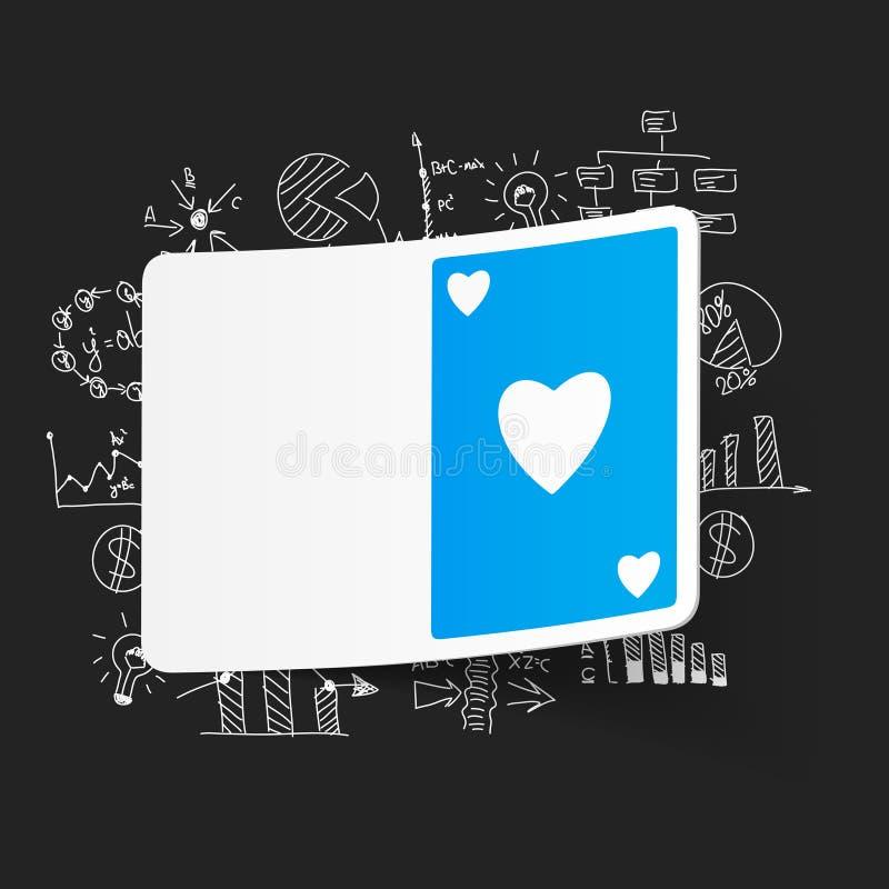 Tekenings bedrijfsformules Speelkaart royalty-vrije illustratie