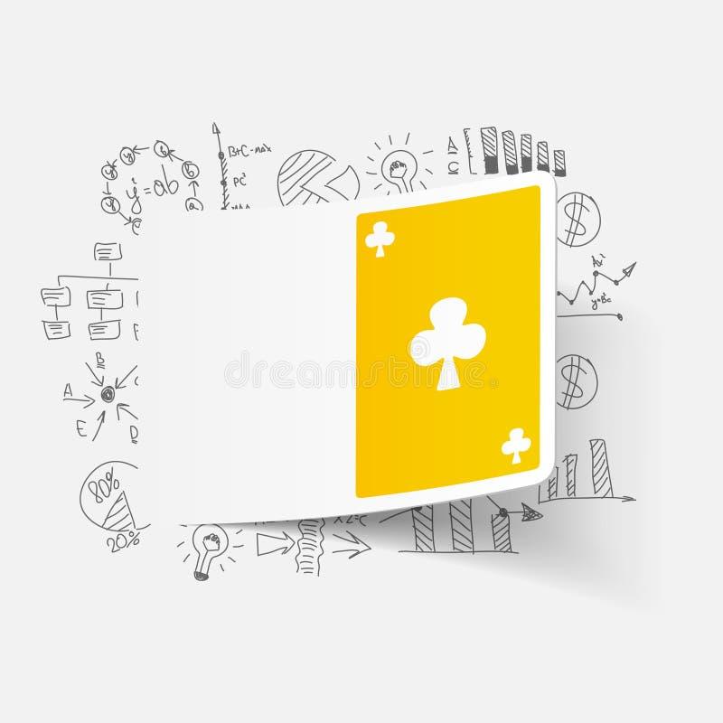Tekenings bedrijfsformules Speelkaart stock illustratie