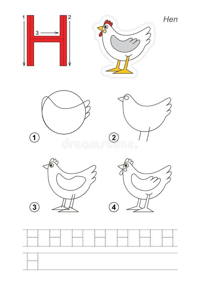 Tekeningsleerprogramma Spel voor brief vector illustratie