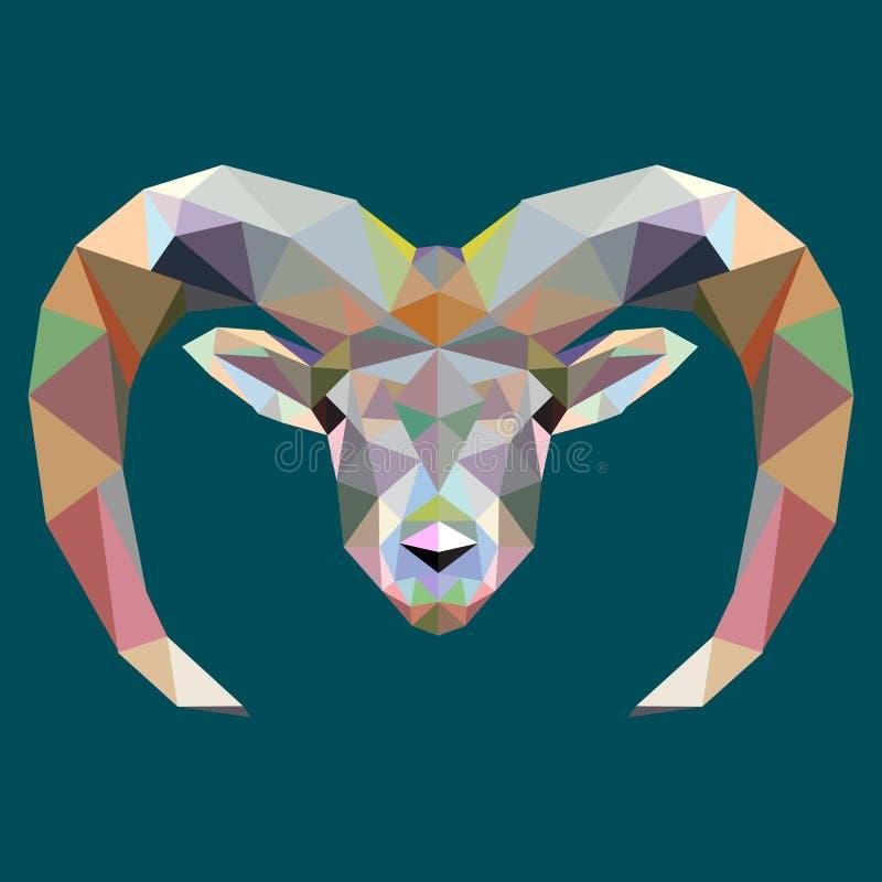 Tekeningsveelhoek, Amerikaanse elanden, herten, vector illustratie