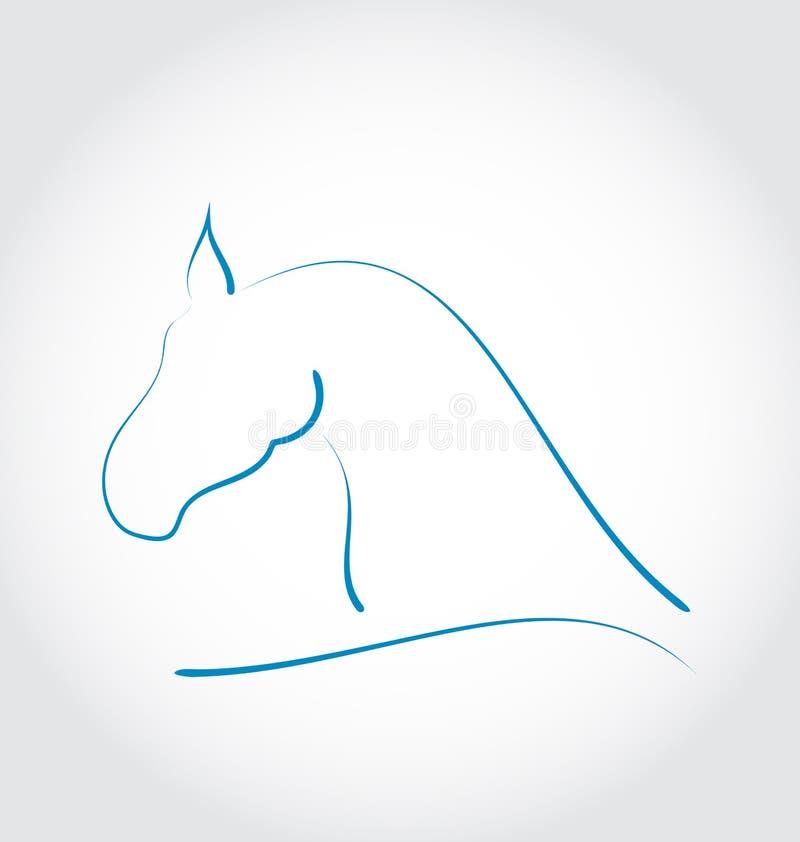 Tekenpaard Op Witte Achtergrond Royalty-vrije Stock Foto
