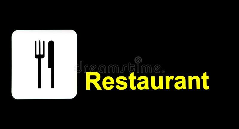 Tekenrestaurant in de Luchthaven royalty-vrije stock afbeeldingen
