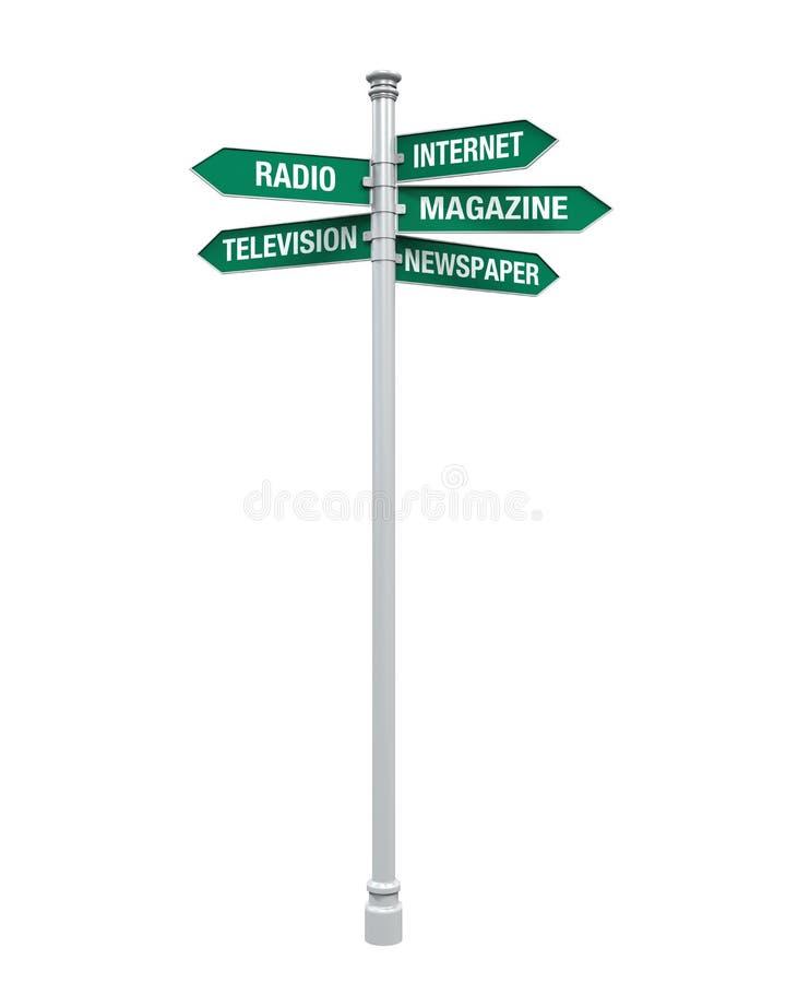 Tekenrichtingen van Media Informatie royalty-vrije illustratie