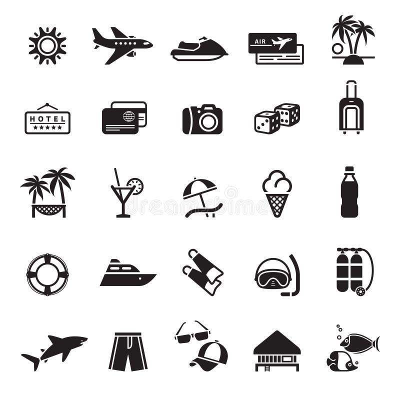 Tekens. Vakantie, Reis & Recreatie. vector illustratie