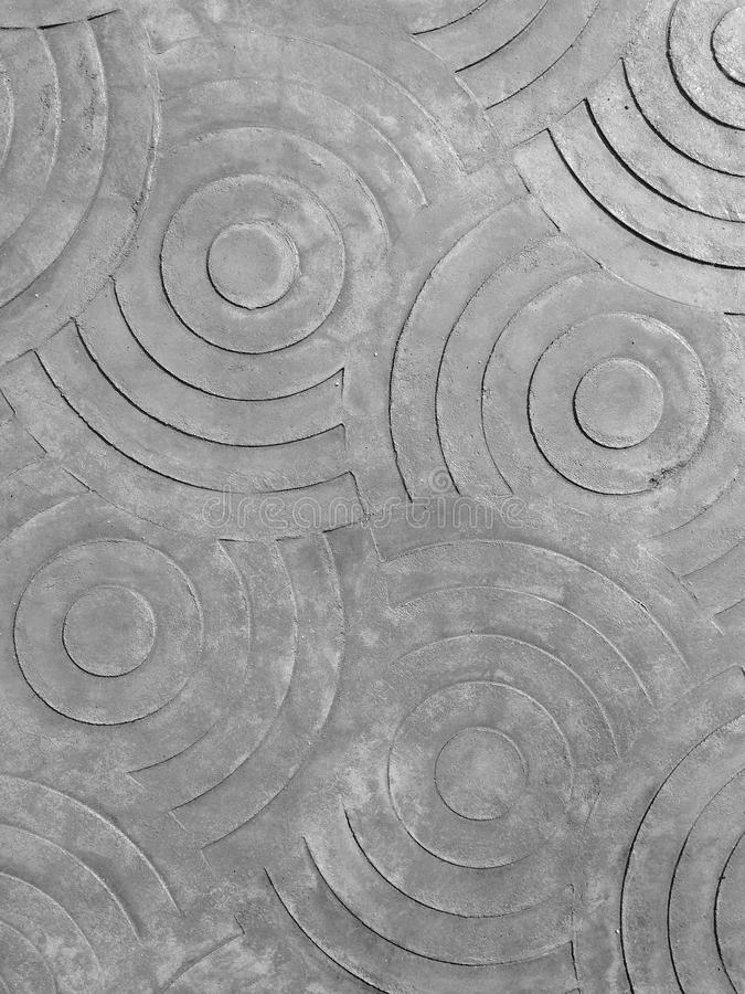 Tekens van cirkel op het beton royalty-vrije stock afbeelding