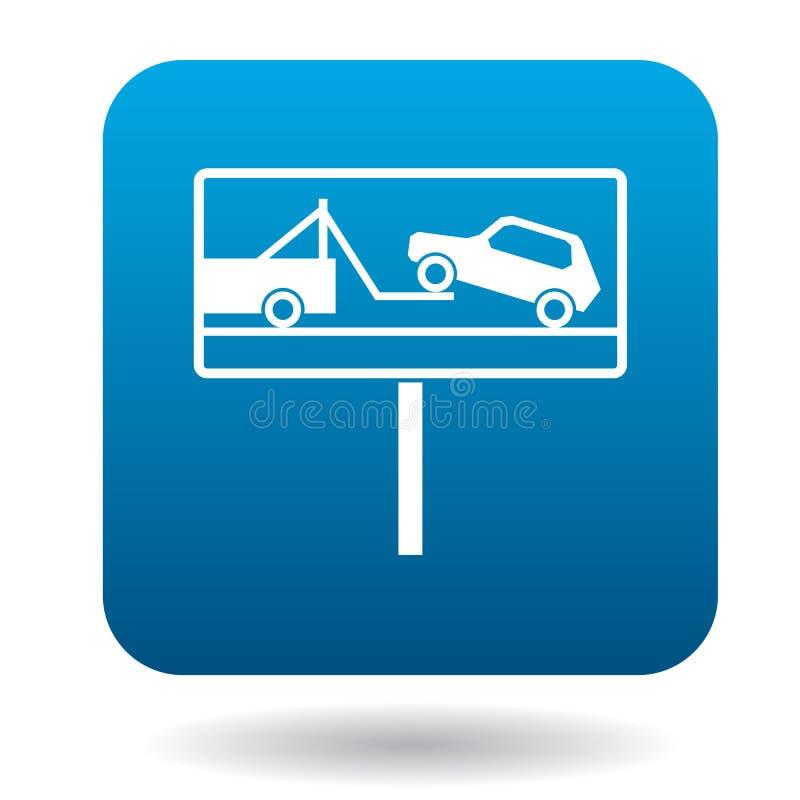 Tekens van evacuatie van auto'spictogram, eenvoudige stijl vector illustratie