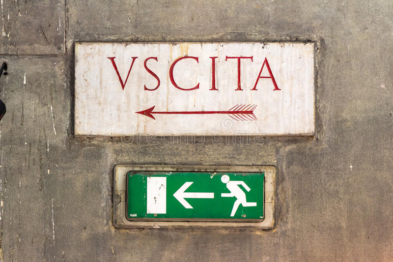 Tekenuscita (output) in Italië royalty-vrije stock fotografie