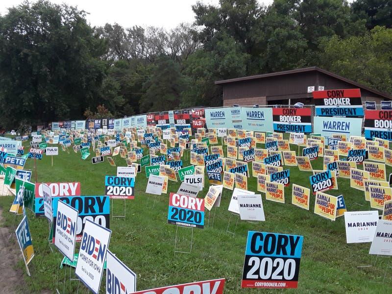 Tekenzone 2020 Democratische kandidaten 131432 stock fotografie