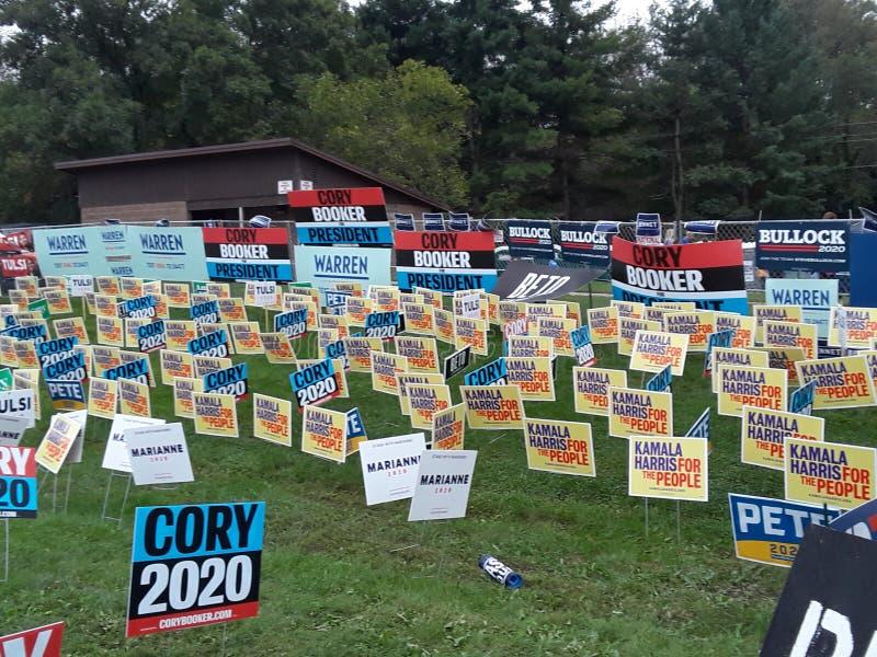 Tekenzone 2020 Democratische kandidaten 131432 royalty-vrije stock afbeeldingen