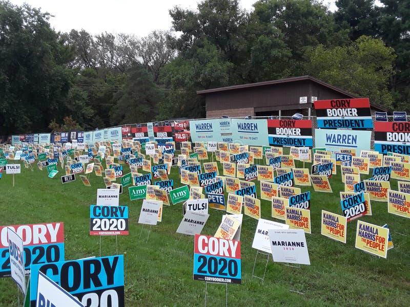 Tekenzone 2020 Democratische kandidaten 131441 stock afbeeldingen
