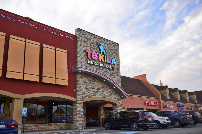 Tekila Mexican Restaurant, Cordova, Tennessee. Tekila Mexican Restaurant Bar and Grill located near Wolfchase in Cordova Tennessee serves quality Mexican royalty free stock image