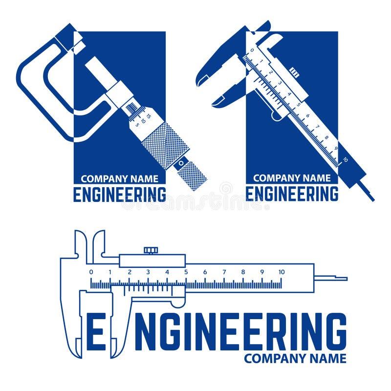 Teknik Företag Logo Templates stock illustrationer