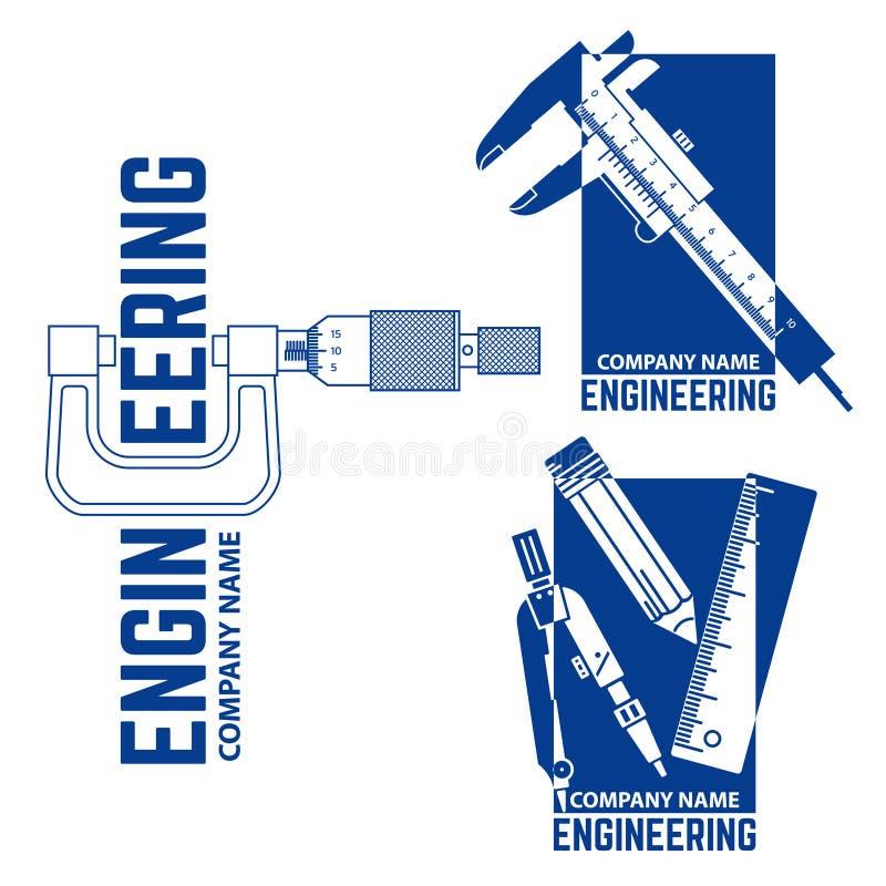 Teknik Företag Logo Templates vektor illustrationer