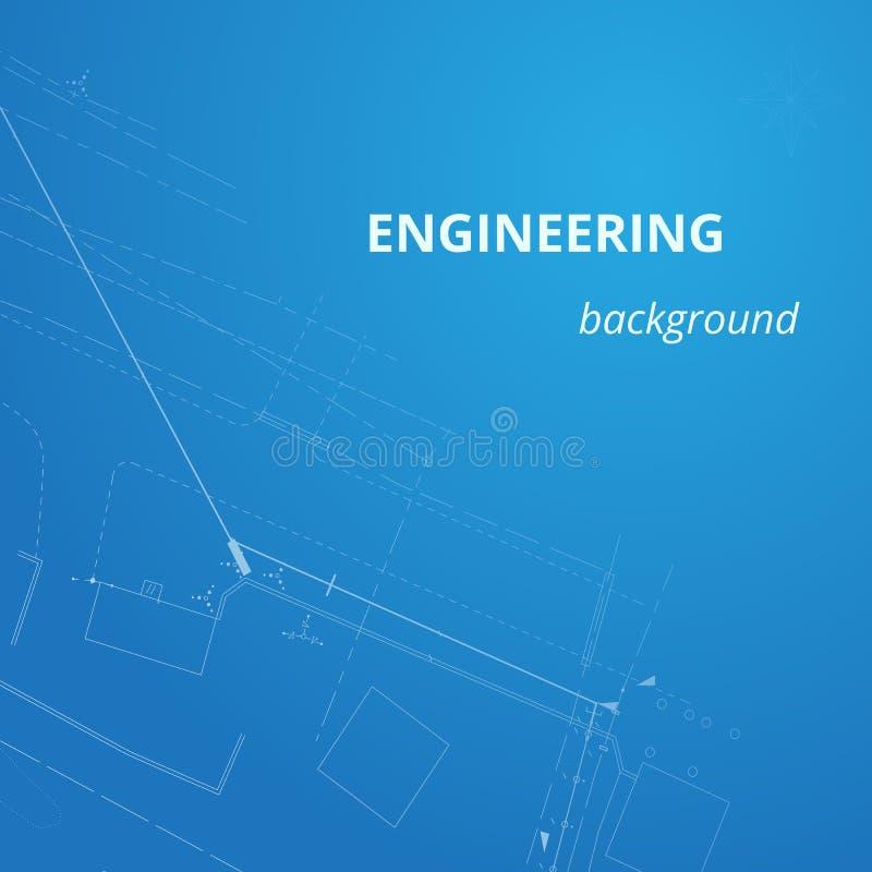 Teknikbakgrund för projekt Underjordiskt rörledningplan vektor illustrationer