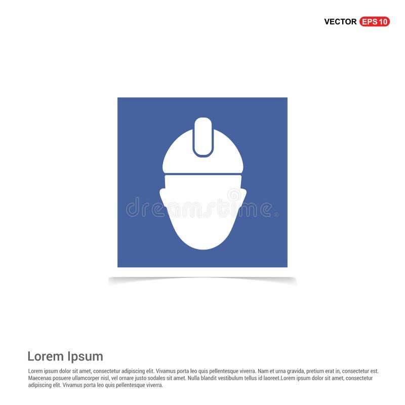 tekniker Icon - blå fotoram stock illustrationer