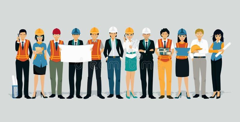 Teknikerer och arkitekter stock illustrationer