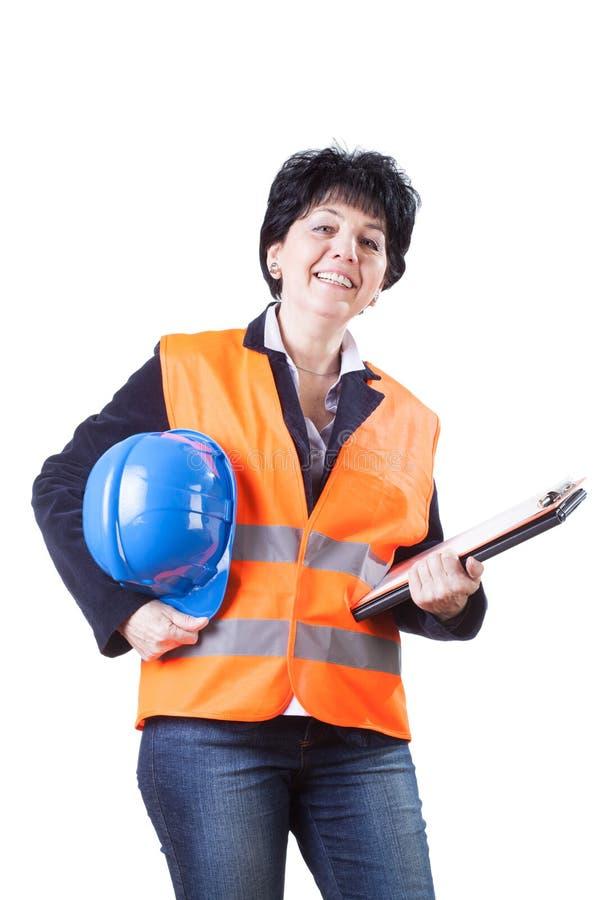 Teknikerkvinna royaltyfria foton