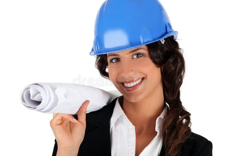 teknikerkvinnligplan fotografering för bildbyråer