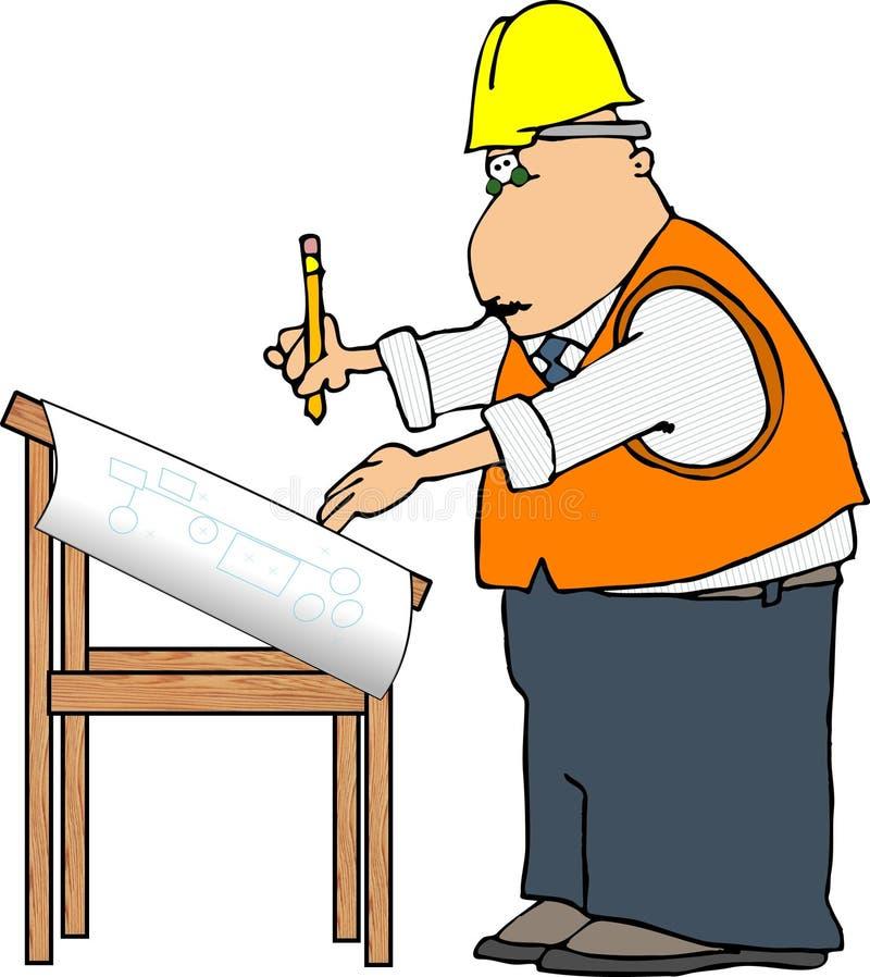 teknikerprojekt stock illustrationer