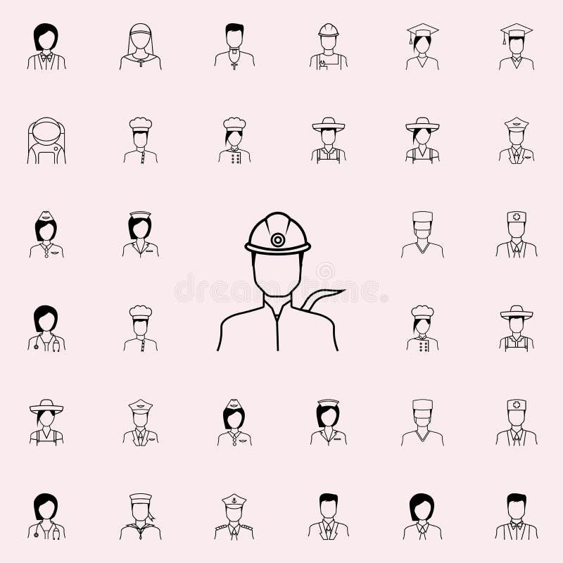 Teknikersymbol Universell uppsättning för Proffecions symboler för rengöringsduk och mobil vektor illustrationer