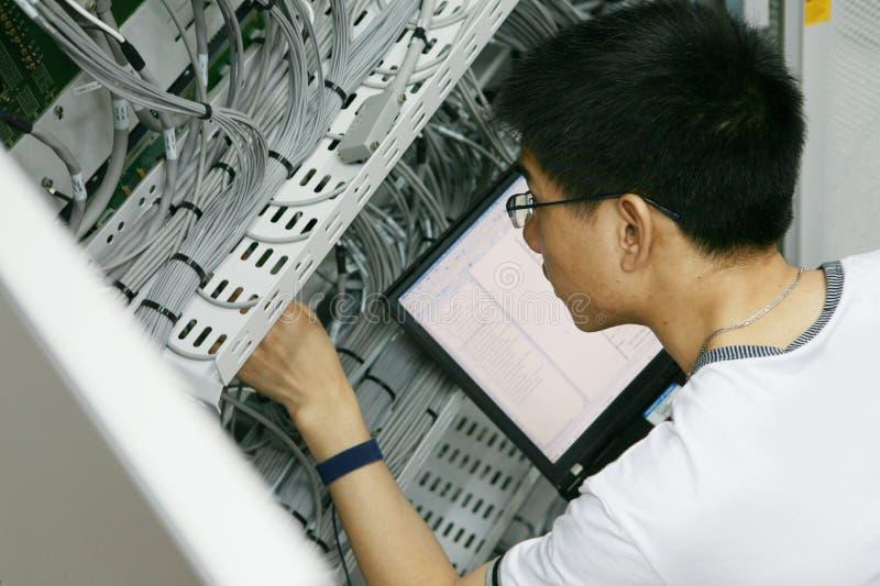 teknikerworking arkivfoto