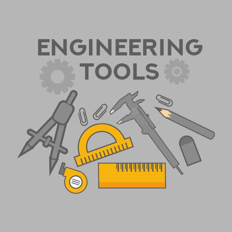 Teknikillustrationvektor Art Logo Template och illustration royaltyfri illustrationer