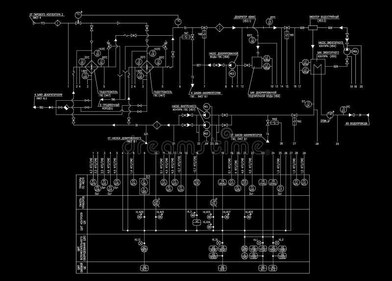 teknikplan vektor illustrationer