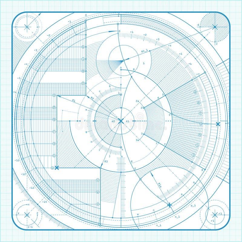 teknisk backgrounde royaltyfri illustrationer
