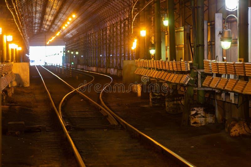 Teknisk järnvägstunnel för trafik med kalltåg royaltyfri fotografi