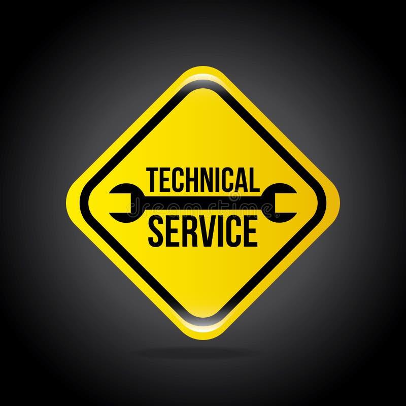 Teknisk service stock illustrationer