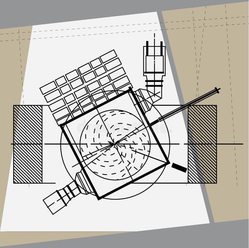 Teknisk teckningsdetalj royaltyfria foton