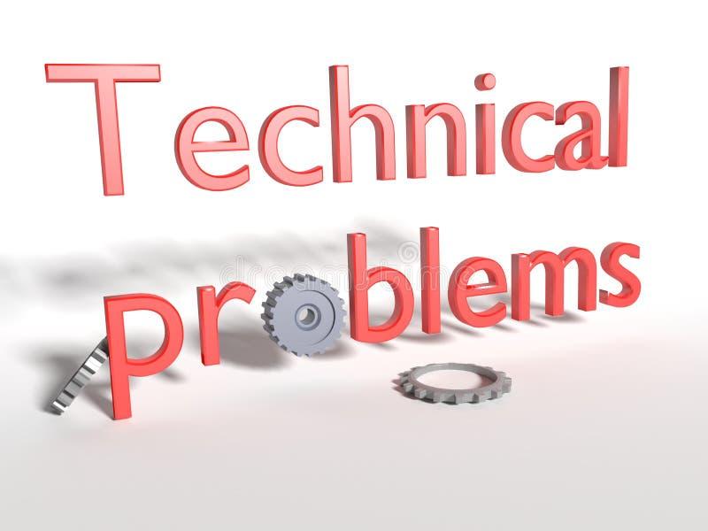 tekniska problem royaltyfria foton