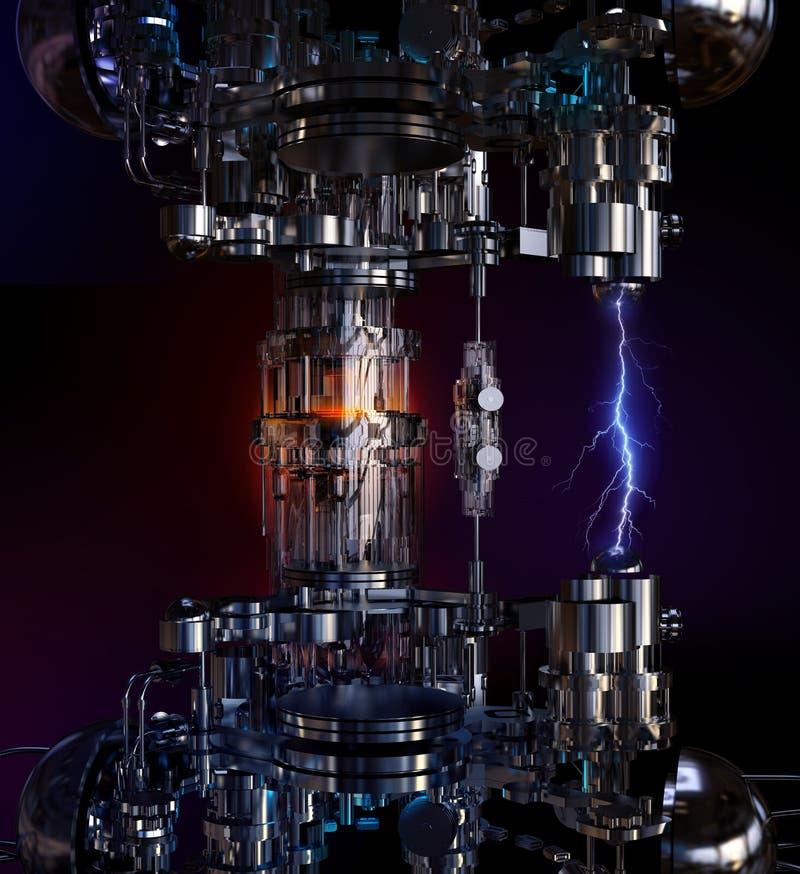 Tekniskt avancerad installation för teknologibegrepp illustration 3d royaltyfri bild