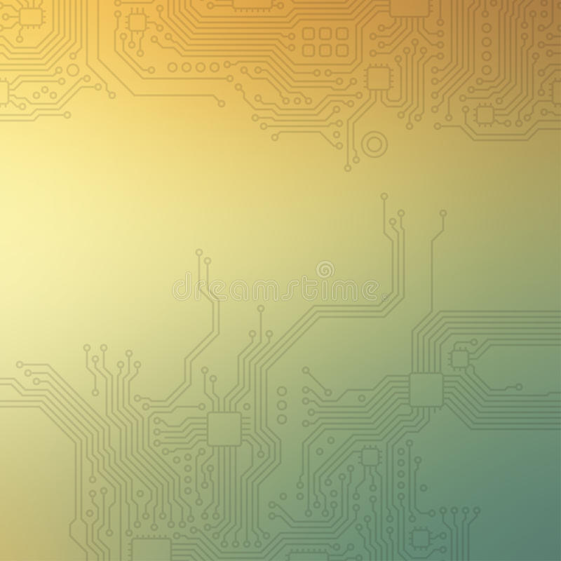 Tekniskt avancerad teknologiabstrakt begreppbakgrund vektor illustrationer