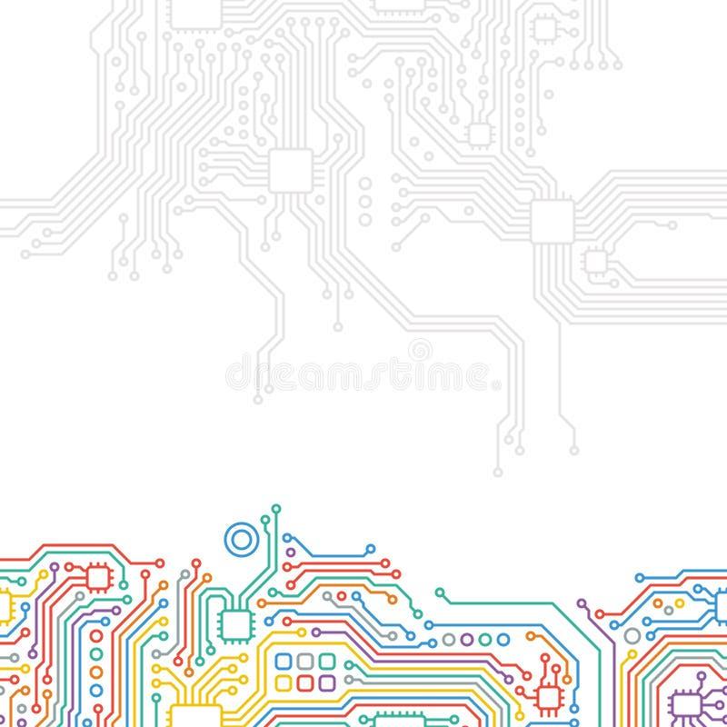 Tekniskt avancerad teknologiabstrakt begreppbakgrund stock illustrationer