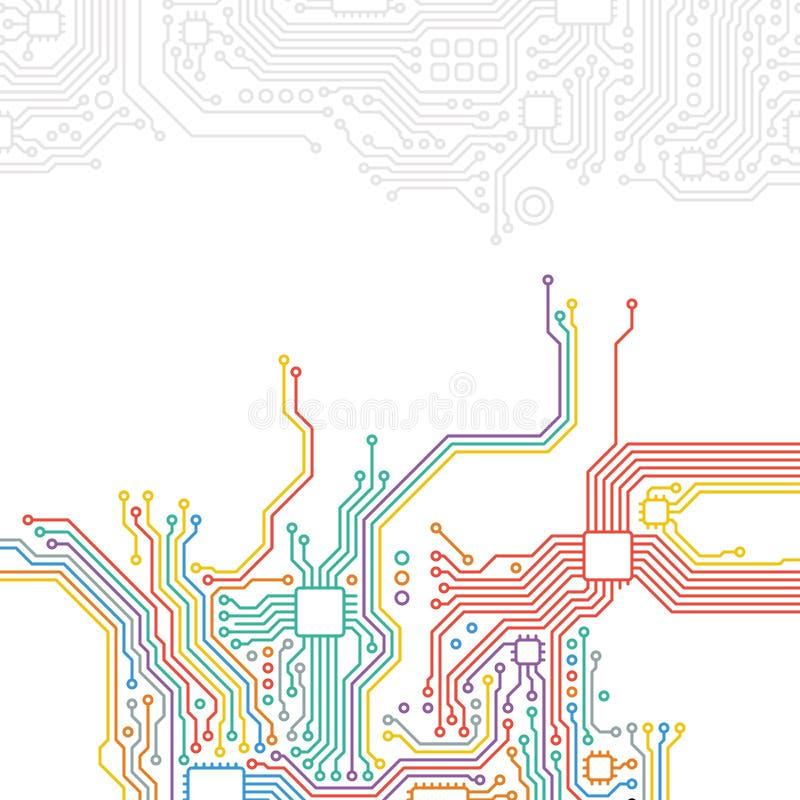 Tekniskt avancerad teknologiabstrakt begreppbakgrund royaltyfri illustrationer