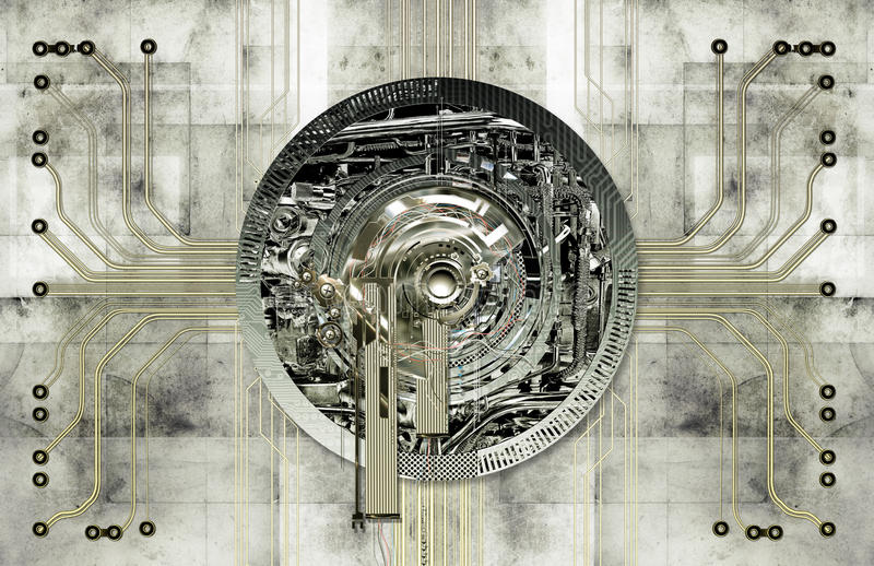 Tekniskt elektronisk bakgrund royaltyfri illustrationer
