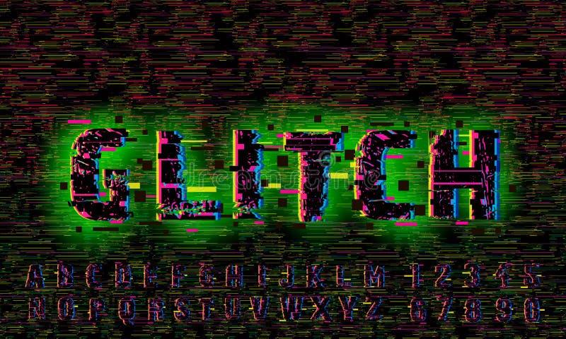 Tekniskt felbakgrund Fel för datorskärm Design för abstrakt begrepp för Digital PIXELoväsen Videospeltekniskt fel Televisionsigna royaltyfria bilder