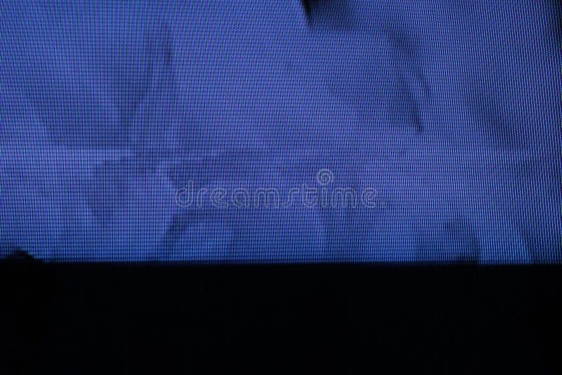 Tekniskt felTVskärm Original- parallellt fel på TVskärmen arkivfoto