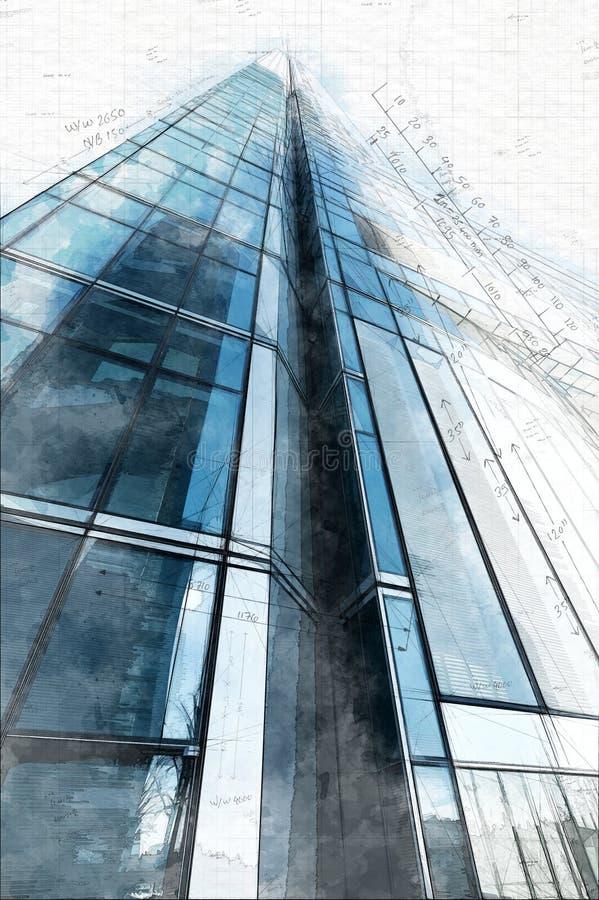 Tekniskt skissa av torn arkivfoton