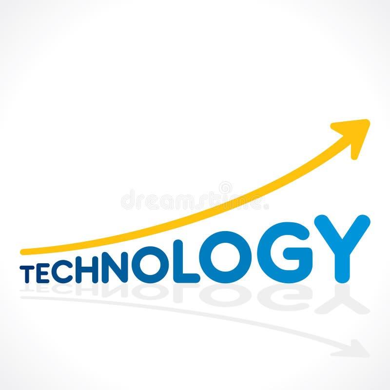 Teknologi använd tillväxtgrafdesign royaltyfri illustrationer