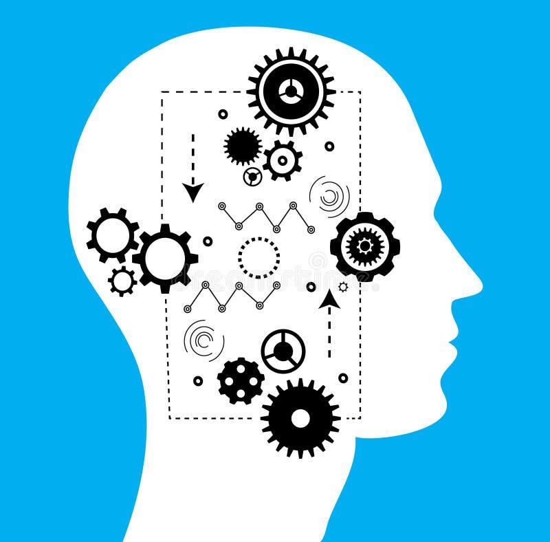 Teknologi av framtid, konstgjord intelligens vektor illustrationer